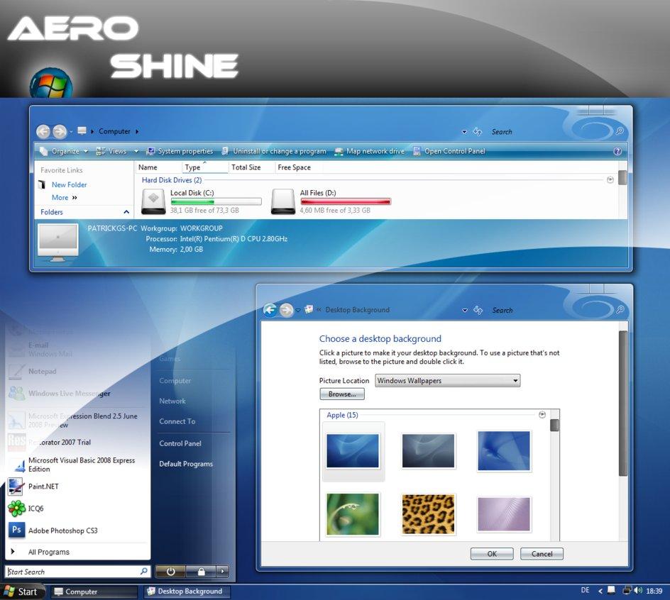 Windows Xp Theme File Software: 10 Free Most Beautiful 3D Windows Vista Themes (HD